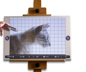 Sheba-with-grids-on-easel